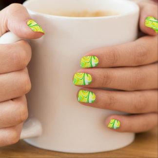 Green Marbleized Essence Of Spring, Minx Nail Art. Minx Nail Art