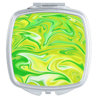 Green_Marbleized_Hippy_Salad_Compact_Mirror Makeup Mirrors