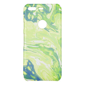 Green marbling paper texture uncommon google pixel case