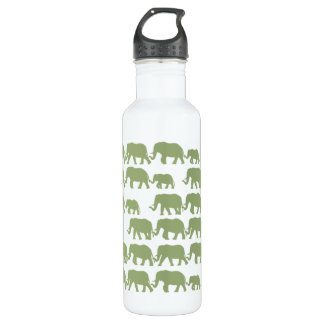 Green Marching Elephant Family 710 Ml Water Bottle