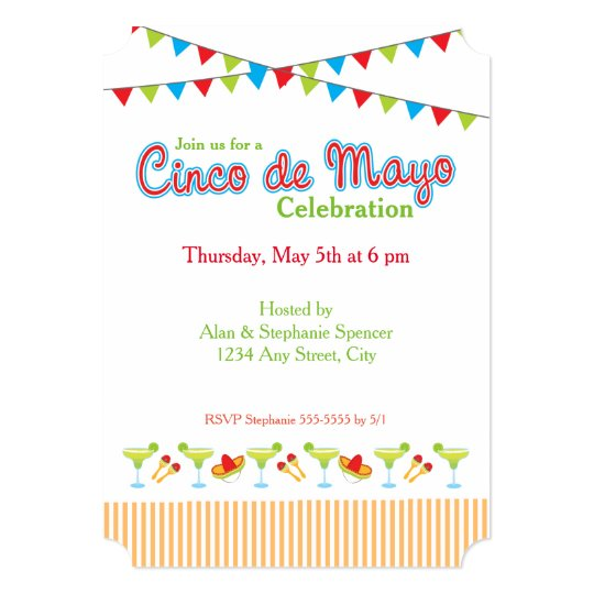 Green Margarita Cinco De Mayo Party Invitation