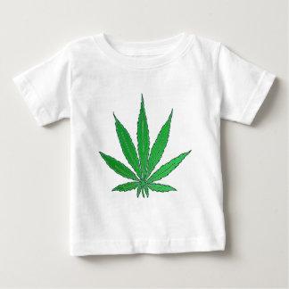 Green Marijuana Leaf Baby T-Shirt