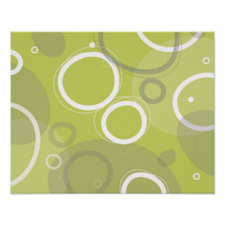 Green Martini Abstract Poster