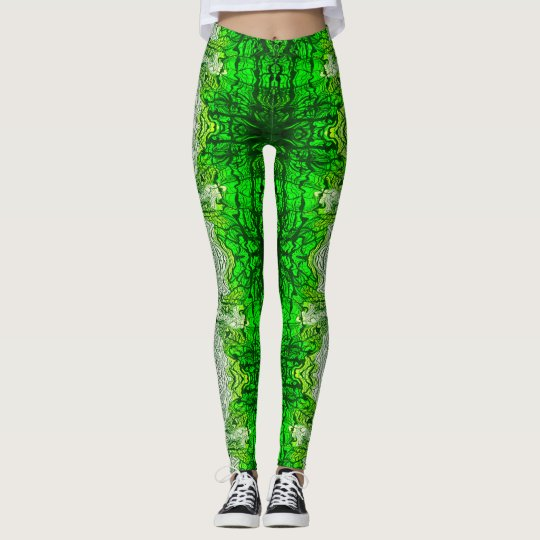 Green Maze Leggings