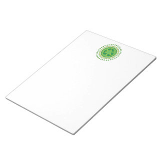Green Medallion Recycling Sign Notepad