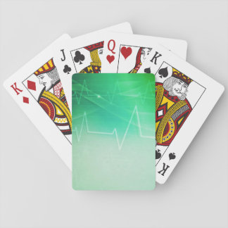 Green Medical Theme Playing Cards