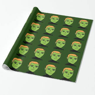 green men wrapping paper