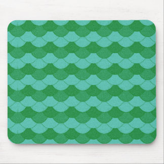 Green Mermaid Scales Mouse Pad