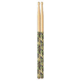 green mermaid skin pattern drumsticks