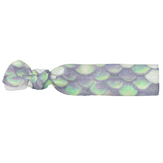 green mermaid skin pattern hair tie