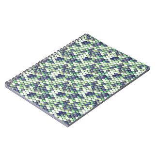 green mermaid skin pattern notebooks