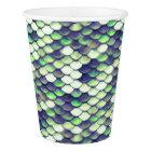 green mermaid skin pattern paper cup