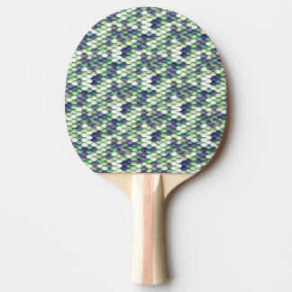 green mermaid skin pattern ping pong paddle
