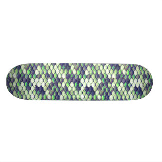 green mermaid skin pattern skateboard