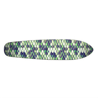 green mermaid skin pattern skateboard deck