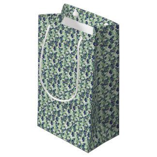 green mermaid skin pattern small gift bag