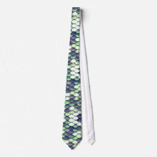 green mermaid skin pattern tie