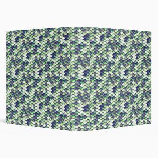 green mermaid skin pattern vinyl binders