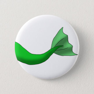 Green Mermaid Tail 2 Inch Round Button