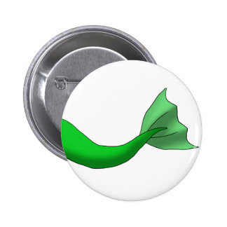 Green Mermaid Tail 2 Inch Round Button