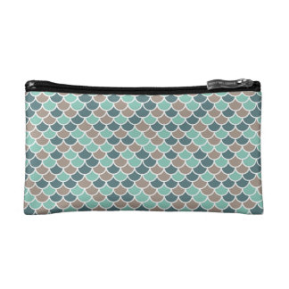 Green Mermaid Tail Cosmetic Bag