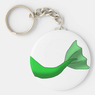 Green Mermaid Tail Keychain