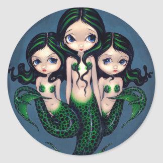 """Green Mermaid Triplets"" Sticker"