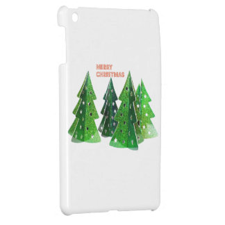 Green Merry Christmas Trees Cover For The iPad Mini