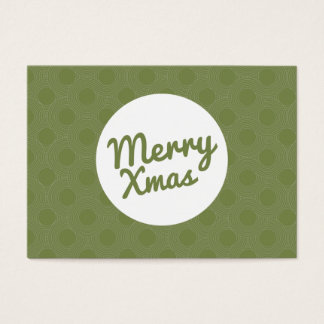 Green Merry Xmas Gift Certificate Cards