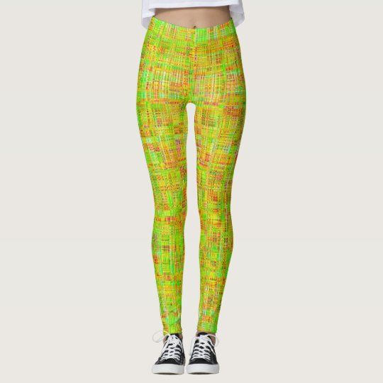 Green Mesh Women's Leggings