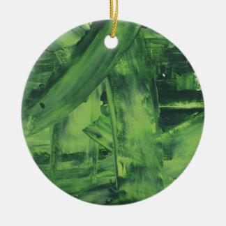 Green Mess Ceramic Ornament