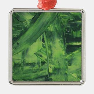 Green Mess Metal Ornament
