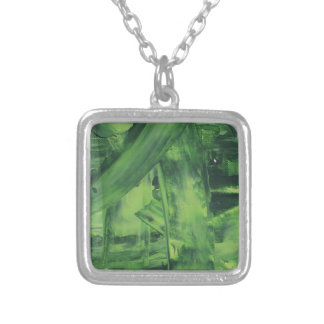 Green Mess Silver Plated Necklace
