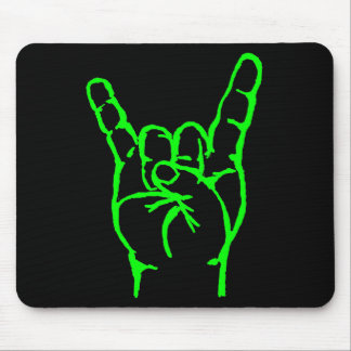 Green Metal Horns Mousepad