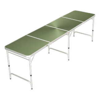 Green Metallic Regulation Size Pong Table