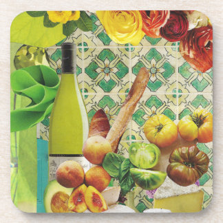 Green Mexican Tile Beverage Coasters