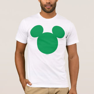 Green Mickey Mouse Head Icon | St. Patrick's Day T-Shirt