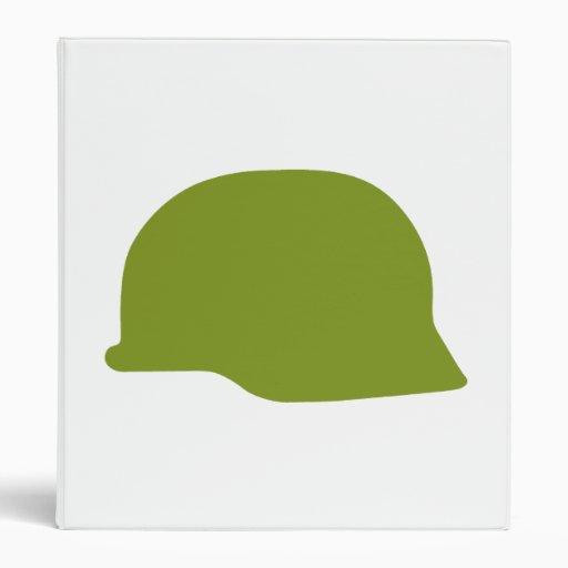 Green Military Helmet 3 Ring Binder