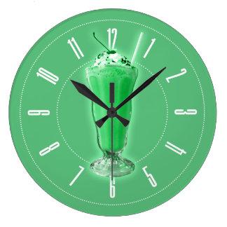Green Milkshake Clock