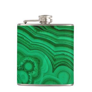 Green Mineral Malachite Hip Flask