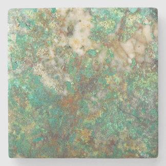 Green Mineral Stone Image Stone Coaster