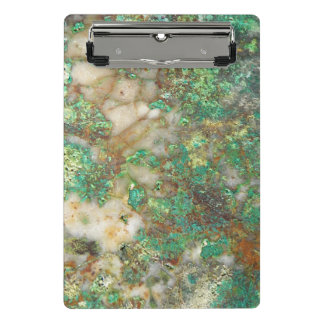 Green Mineral Stone Mini Clipboard