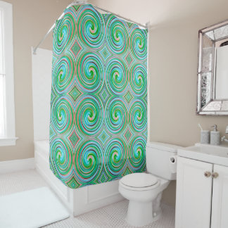 Green Mint Abstract Swirl Pattern