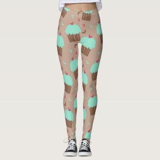 Green Mint Cupcake Leggings