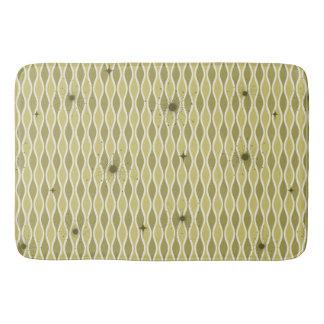 Green Mod Hourglass & Sputniks Bath Mat