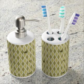 Green Mod Hourglass & Sputniks Bath Set