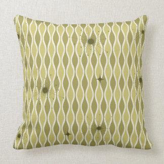 Green Mod Hourglass & Sputniks Pillow