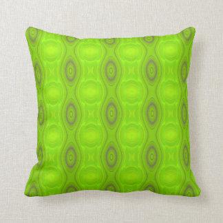 Green Mod Pattern Throw Pillow
