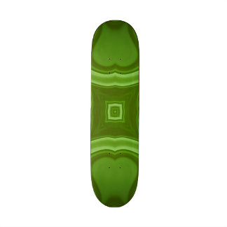 Green modern art custom skateboard