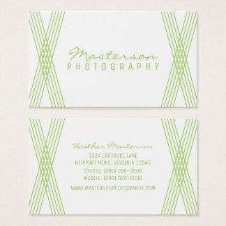 Green Modern Deco Business Card